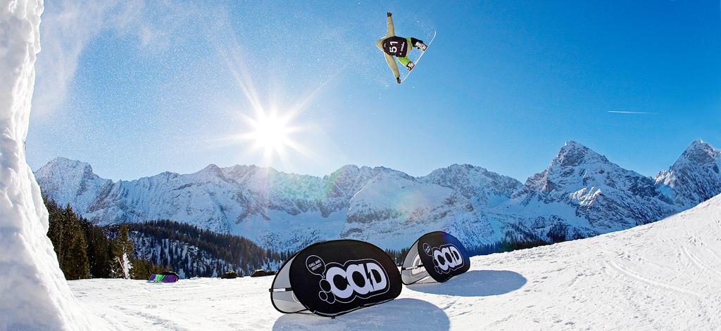 Werbebande Quickboard Wintersport