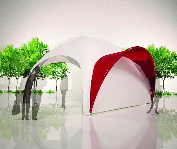 Aufblasbares Zelt Easyroof Vordach