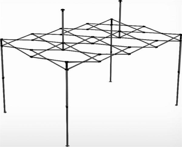 Easydome Metall-Gestell ECO 3 x 4,5 m schwarz