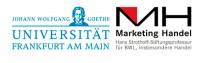 Werbewirksamkeit Tropfenförmige Fahne Universität Frankfurt am Main