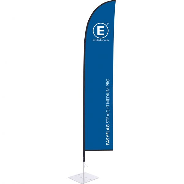 Beachflag Easyflag Stoff Straight Medium PRO einseitig