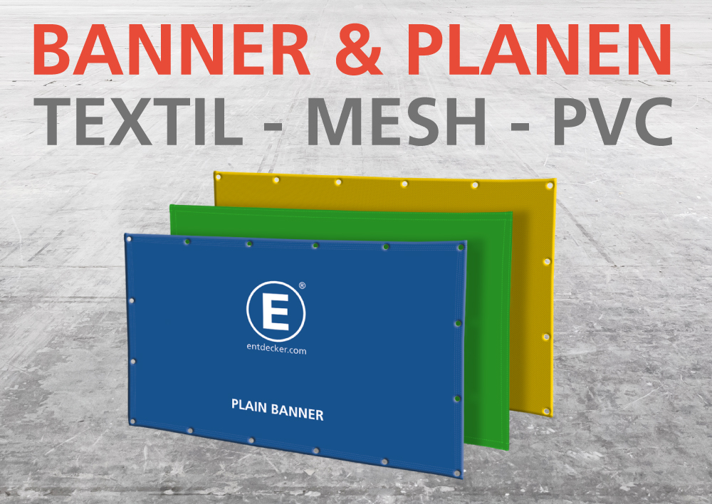Entdecker Banner und Planen