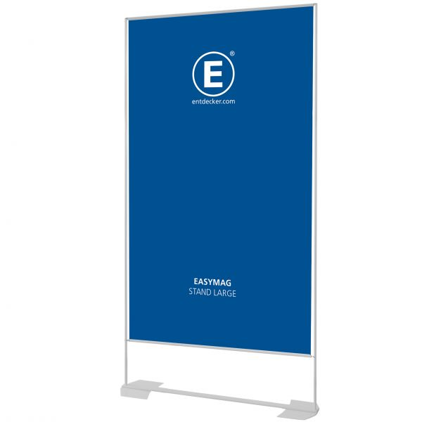 Easymag Stand 200 Large mit Wing-Fuß inkl. Druck doppelseitig