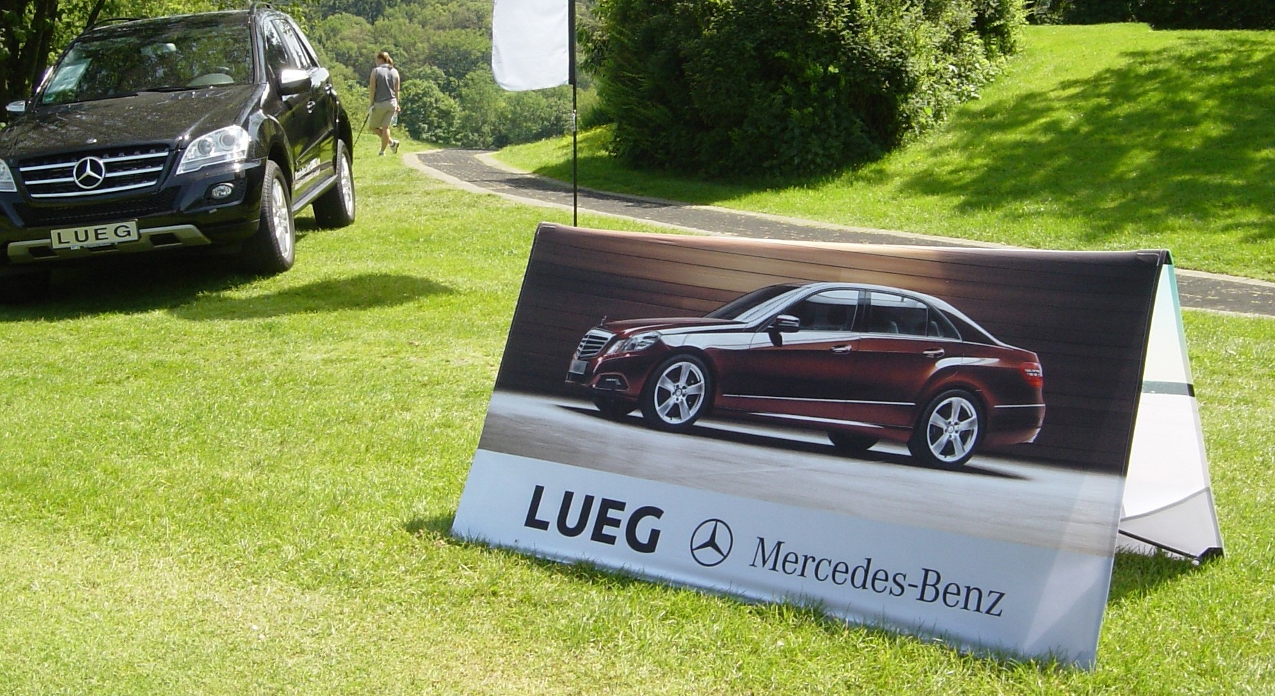 Werbebande Clickboard Mercedes