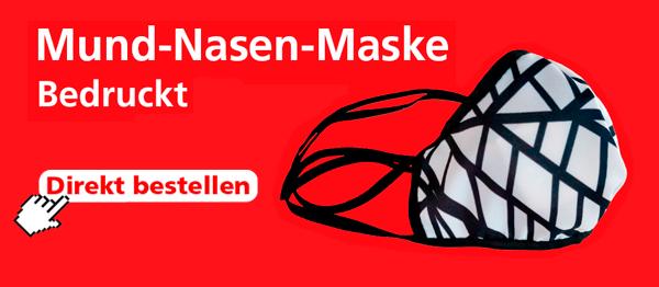 Mund-Nasen-Maske wiederverwendbar bedruckt
