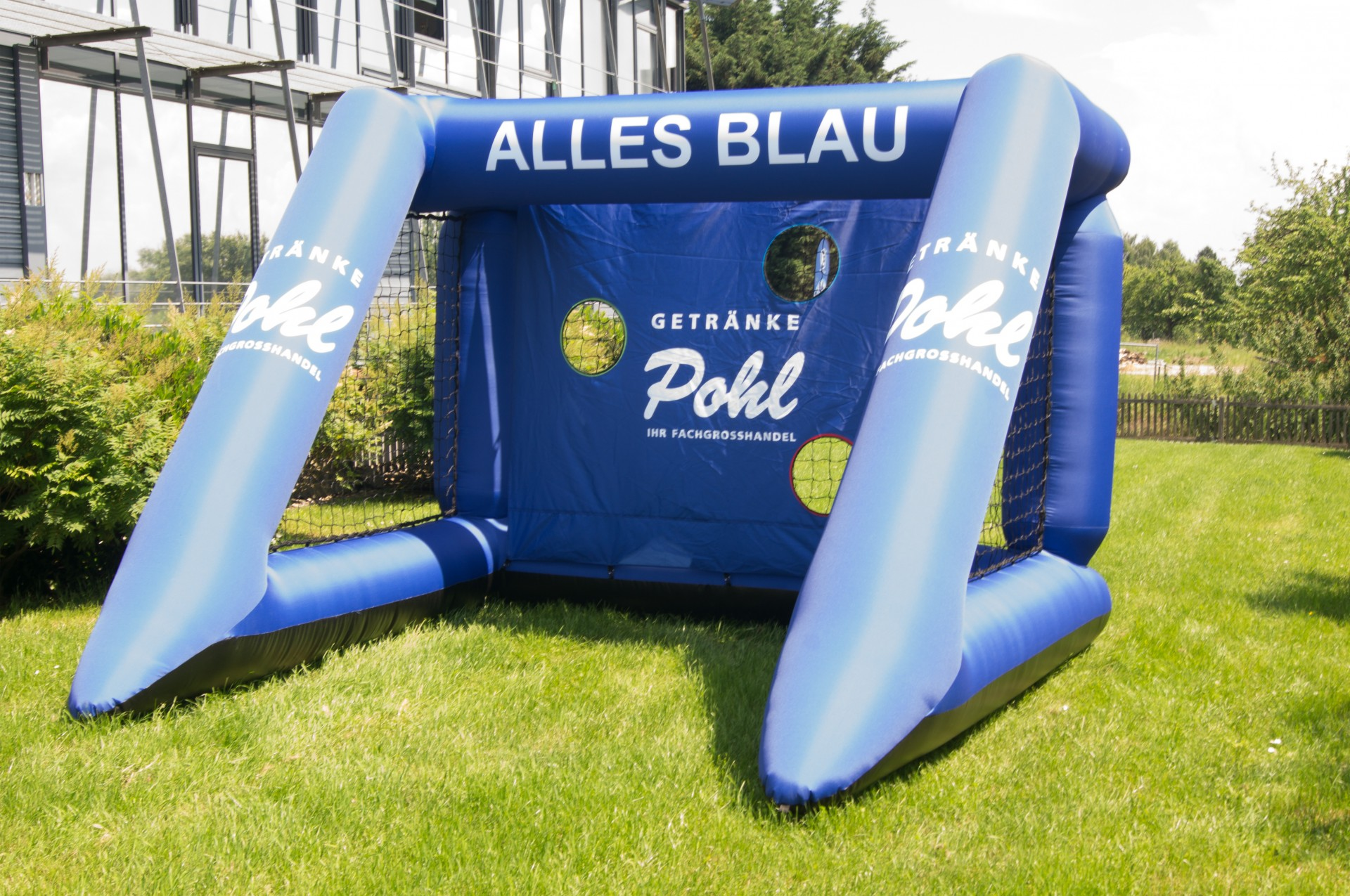 Blow Up Easy Inflate Ad Torwand Pohl