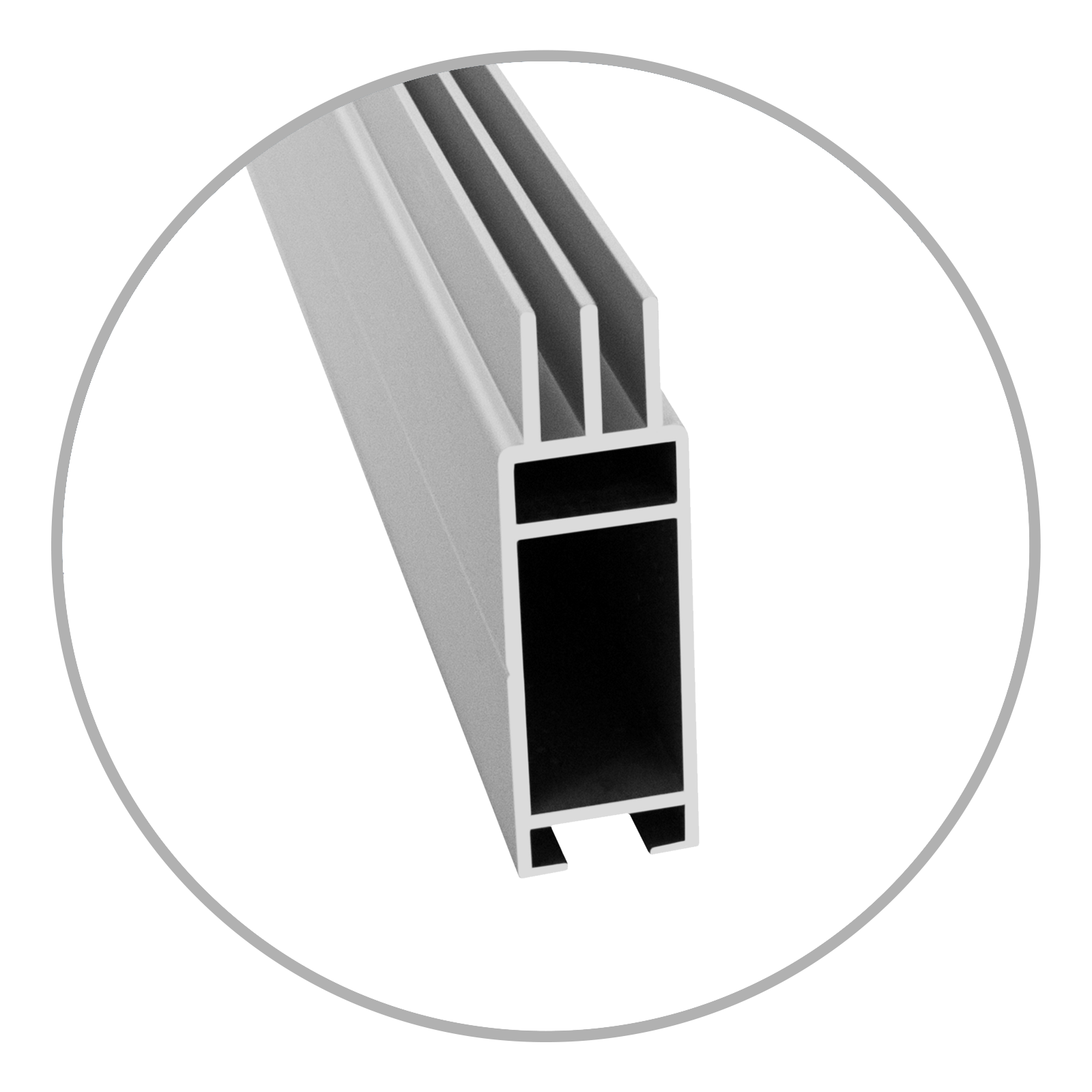Easyframe Profil cube silber