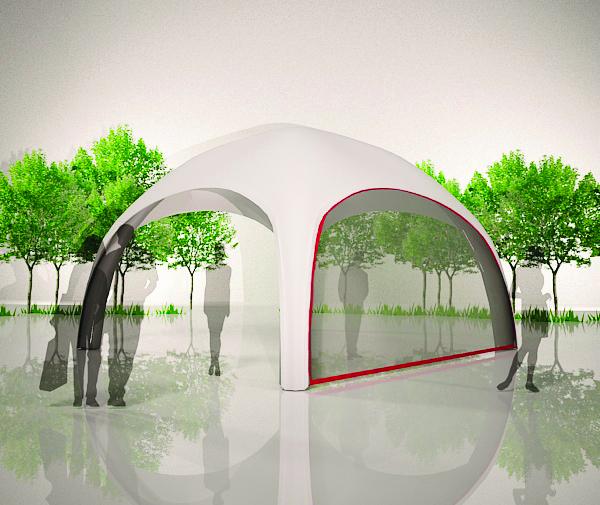 Aufblasbares Zelt Easyroof Transparent