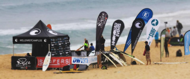 Beachflag Easyflag Drop Pro am Strandt