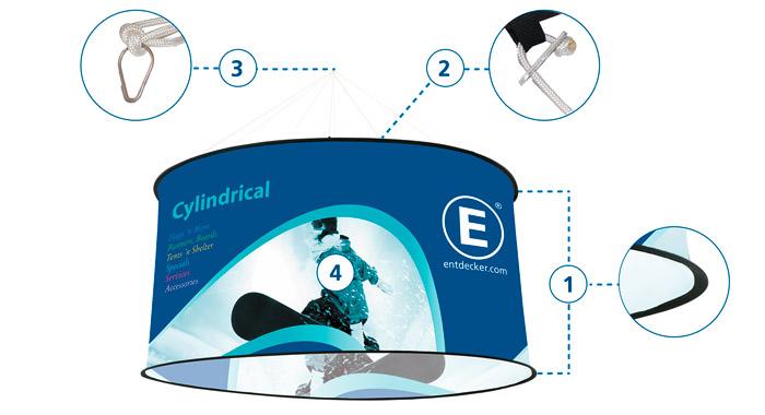 Deckenhaenger Cylindrical Details Entdecker