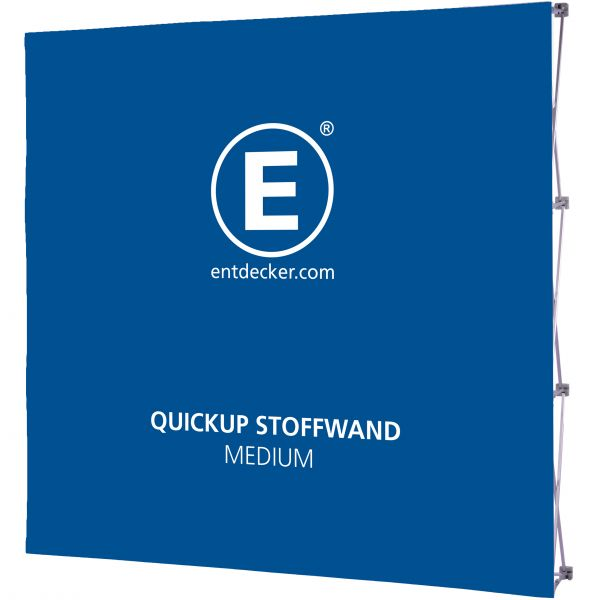Quickup Stoffwand Set Medium Front