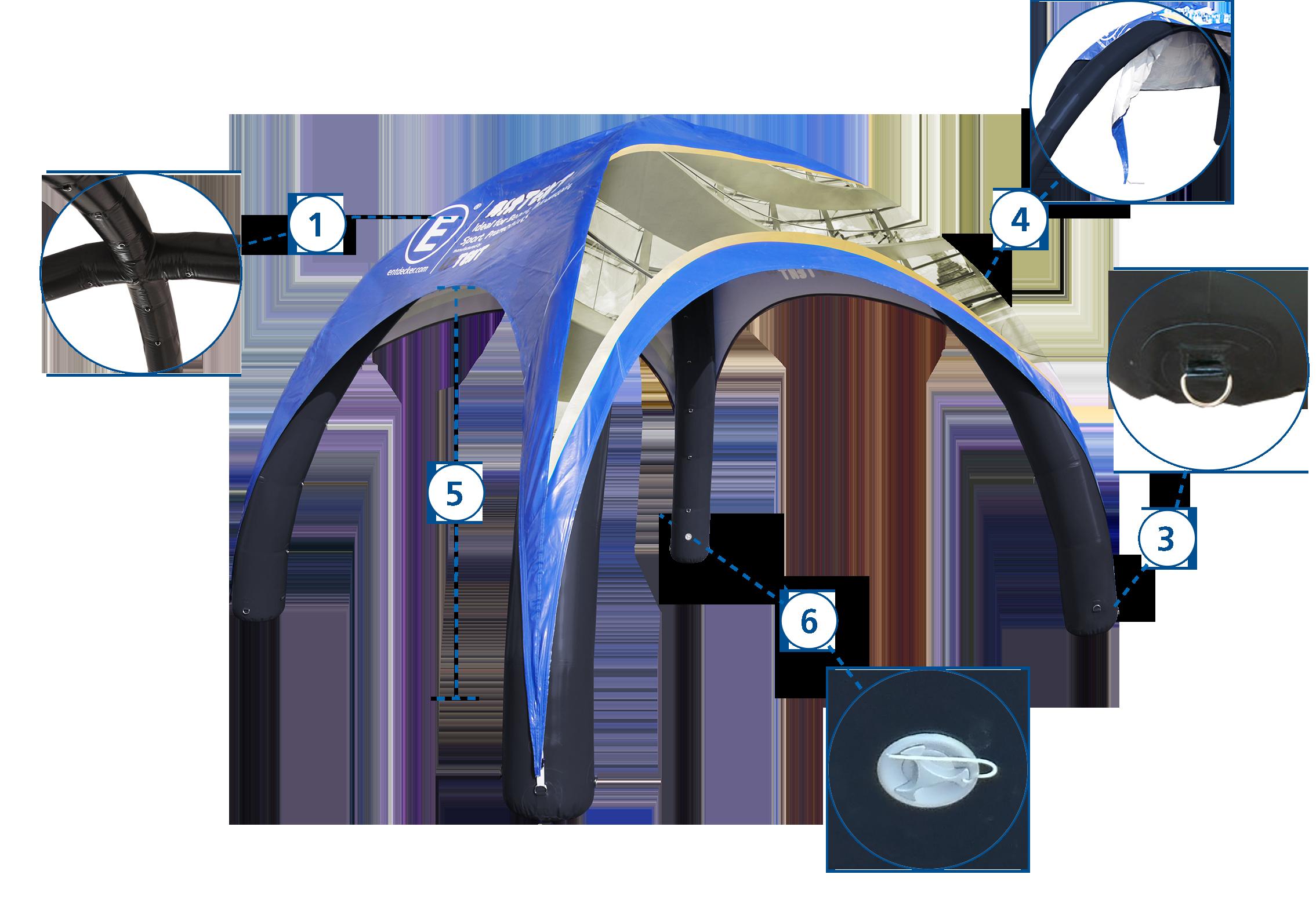 Aufblasbares Zelt Easyroof Details