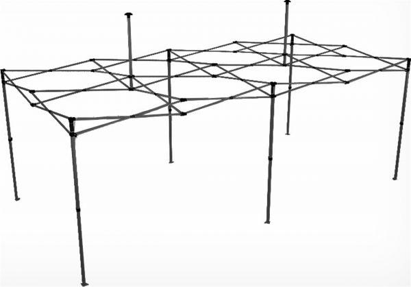 Easydome Metall-Gestell ECO 3 x 6 m schwarz