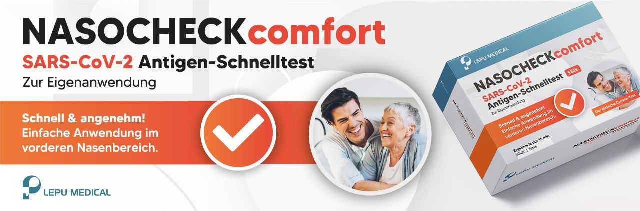 NASOCHECK comfort Covid-19 Antigen-Selbsttest 5er-Packung