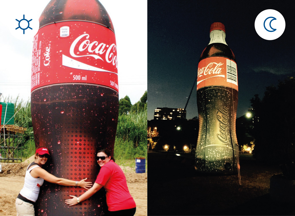 Blow Up Easy Inflate Ad Coca-Cola