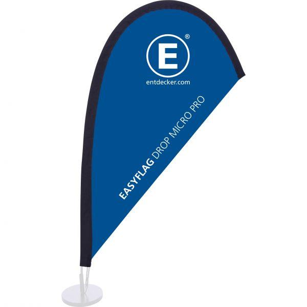 Beachflag Easyflag Stoff Drop Micro PRO doppelseitig