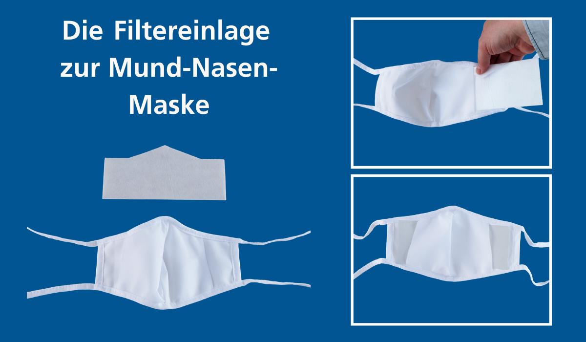 Filtereinlagen für Mund-Nasen-Masken
