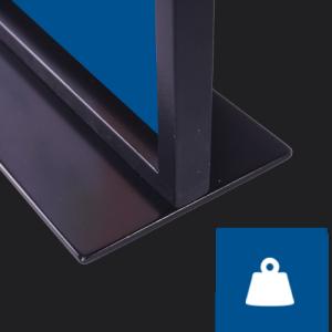 Tischaufsteller Easymag A5 Detail stabil