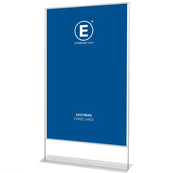 Easymag Stand 200 Large mit Classic-Fuß inkl. Druck doppelseitig