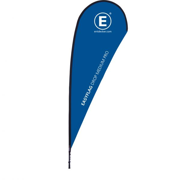 Beachflag Easyflag Drop Medium Pro einseitig Stoff