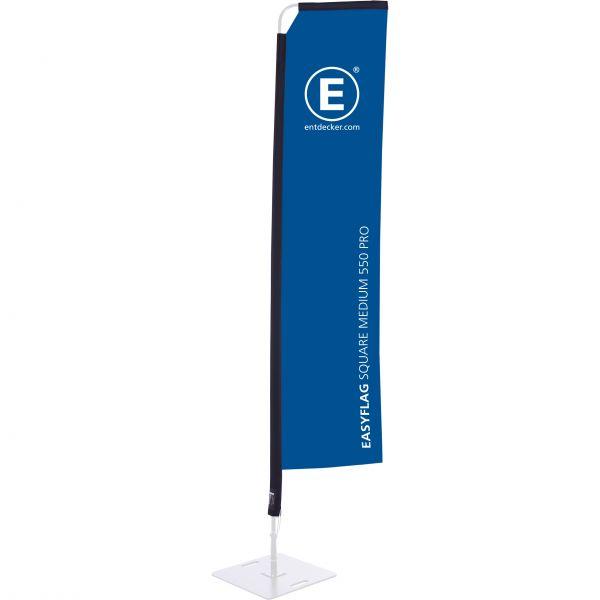 Beachflag Easyflag Stoff Square 55 Medium PRO doppelseitig