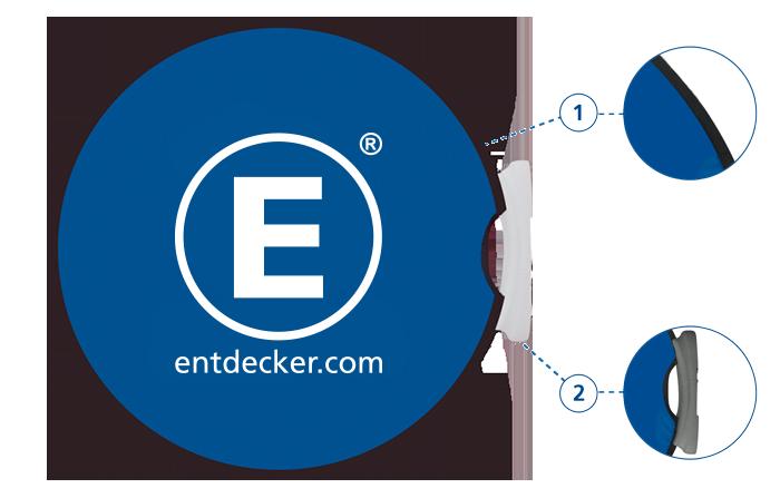 Werbebande Easydisc flex Detailansicht