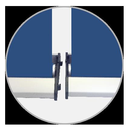 Messewand Easywall Flex Kassettenverbindung