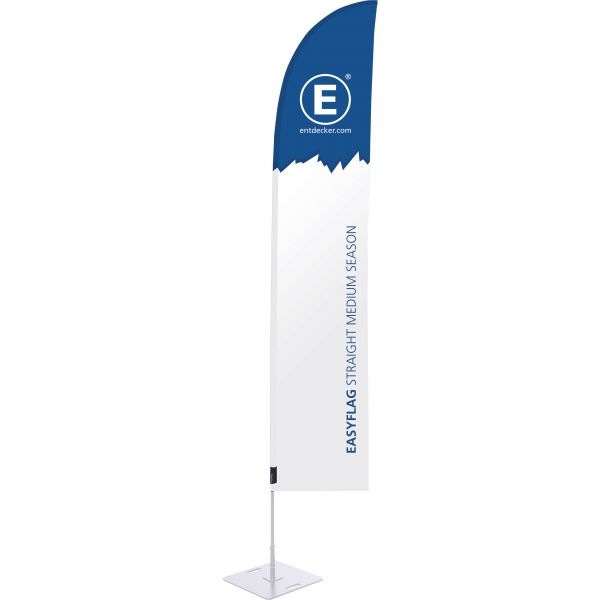 Beachflag Easyflag Stoff Straight Medium SEASON