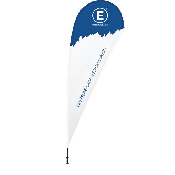 Beachflag Easyflag Drop Medium SEASON einseitig