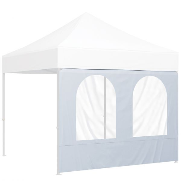 Wand mit 2 Bogenfenster Polyester in Farbe