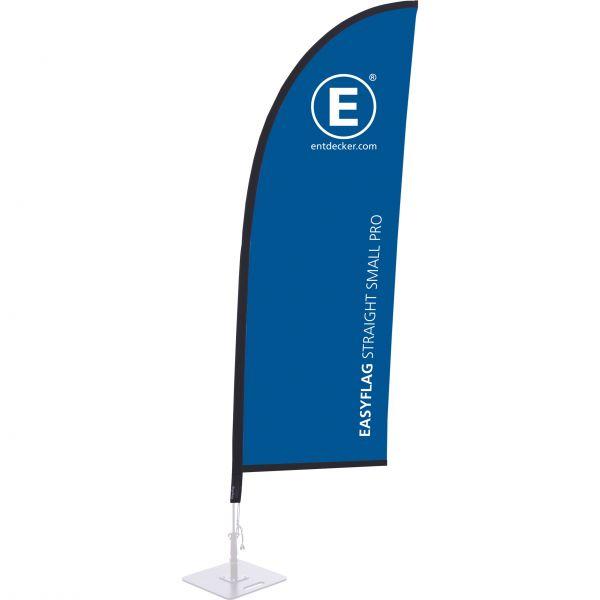 Beachflag Easyflag Stoff Straight Small PRO einseitig