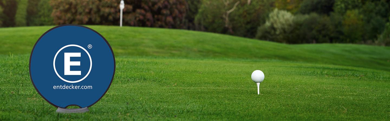 Werbebande Easydisc Flex Golfplatz
