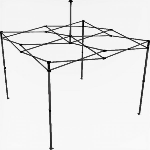 Easydome Metall-Gestell ECO 3 x 3 m schwarz