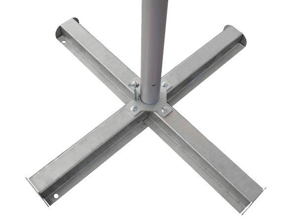 Sonnenschirm Kreuzfuß Stahl