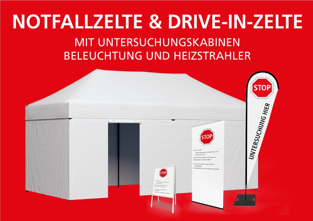 Notfallzelte & Drive-In-Zelte
