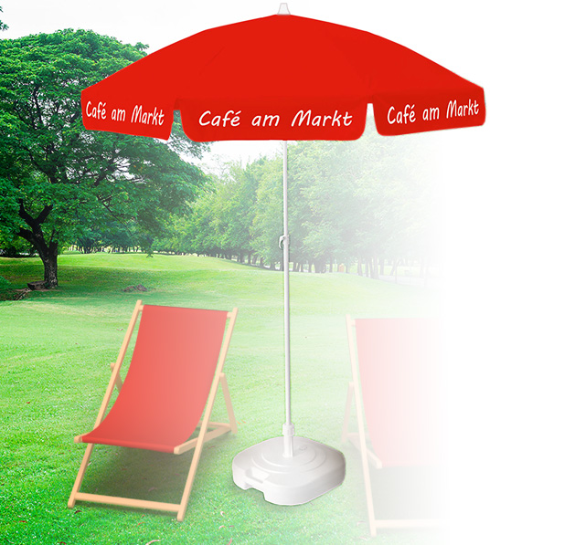 Sonnenschirme Event Cafe Titel