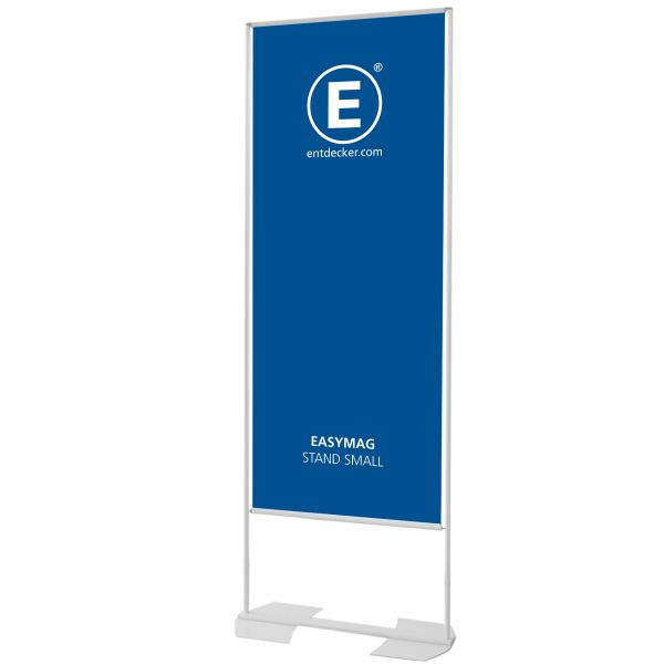 Easymag Stand 160 Small mit Wing-Fuß inkl. Druck doppelseitig