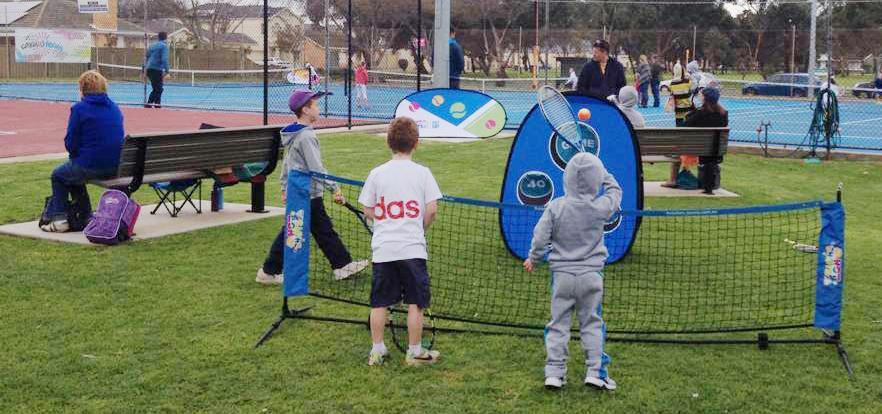 Tennis Zielscheibe Mobile Werbebande  Quickboard