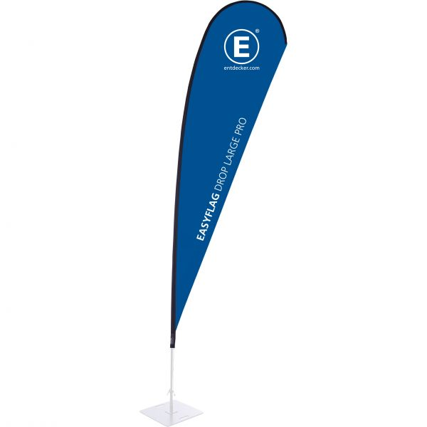 Beachflag Easyflag Stoff Drop Large PRO einseitig