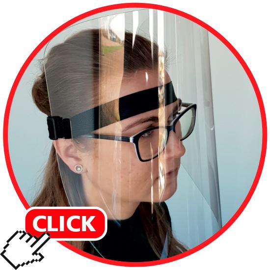 Acryl-Kopfschutz